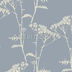 Zarte Baumblumen Nahtloses Vektormuster