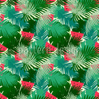 Tropical Watermelon Seamless Vector Pattern