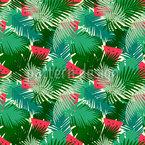 Tropische Wassermelone Nahtloses Vektor Muster