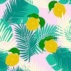 Tropische Zitrone Vektor Muster