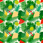 Exotic Fruit Seamless Vector Pattern Design