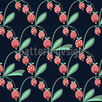 Berry Bud Seamless Vector Pattern Design