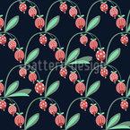 Berry Bud Estampado Vectorial Sin Costura