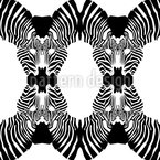 Zebrakuss Nahtloses Vektor Muster