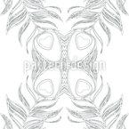 Pfauenfeder Schmetterling Nahtloses Vektormuster