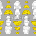 Tequila Lemon Seamless Vector Pattern Design