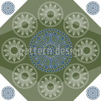 Portuguese Mandalas Repeating Pattern