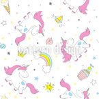 Fancy Unicorn Seamless Vector Pattern Design