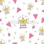 Girly Princess Seamless Vector Pattern Design