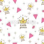 Girly Prinzessin Nahtloses Vektormuster