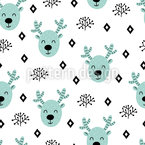 Scandinavian Deer Seamless Vector Pattern
