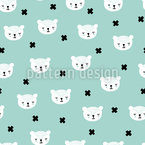 Scandinavian Cuddle Bear Vector Pattern