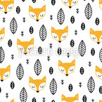 Scandinavian Fox Seamless Vector Pattern Design