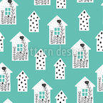 Tangly Scandinavian Houses Repeat Pattern
