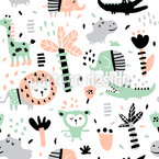 Funny Jungle Pattern Design