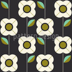 Retro Flowers And Leaves  Seamless Pattern