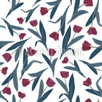 It Is Raining Tulips Seamless Vector Pattern Design