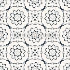 スタイル設定されたリング形状 シームレスなベクトルパターン設計