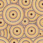 Aboriginal Dots Seamless Vector Pattern Design