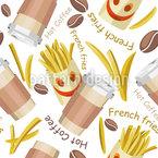 Fritierte Rustikale Pommes Designmuster