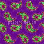 Filigrane Paisleys Nahtloses Vektor Muster