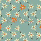 Retro Flower  Pattern Design