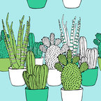 Cactus Family Seamless Vector Pattern Design