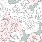 Rose Roses Seamless Vector Pattern Design