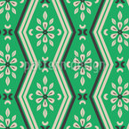 Zigzag Lines And Floral Elements Repeat Pattern