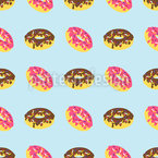 Box Of Donuts Seamless Vector Pattern