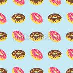 Caixa De Donuts Design de padrão vetorial sem costura