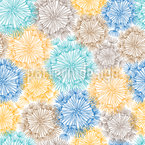 Gentle Air Dandelions Seamless Vector Pattern Design