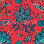 Indian Paisley Seamless Vector Pattern Design