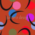 Sicheln Und Kreise Muster Design
