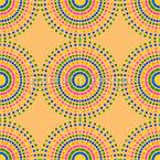 Buntpunktierte Sonne Nahtloses Muster