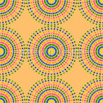 Colorful Dotted Sun Seamless Pattern