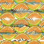 Reife Zitrusfrüchte Nahtloses Vektormuster