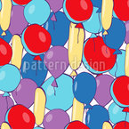 Farbenfrohe Luftballons Rapportmuster