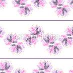 Flowers In Stripes Pattern Design