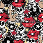 Rock Sticker Pattern Design