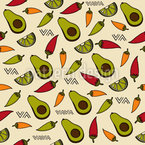 Leckeres Mexikanisches Essen Muster Design