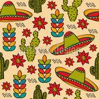 Mexikanische Stereotypen Nahtloses Vektormuster
