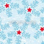 Schneeflocken Rapportmuster