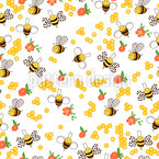 Flowers And Bees Repeat