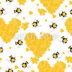 Ich Liebe Honig Nahtloses Vektormuster