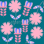Simple Floral Theme Vector Ornament