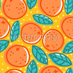 Orange Salad Seamless Vector Pattern Design