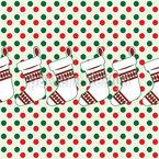 Meias de Natal Design de padrão vetorial sem costura