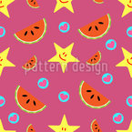 Watermelon and Hearts Pattern Design