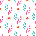 Plants And Watermelon Pattern Design